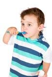 chłopiec czyścić zęby Zdjęcia Stock