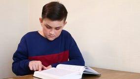Chłopiec czyta książkę zbiory wideo