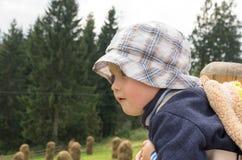 chłopiec dotycząca Zdjęcie Stock