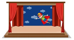 Chłopiec dramata przedstawienie na scenie royalty ilustracja