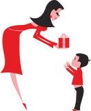 chłopiec dziecka prezent ilustracji
