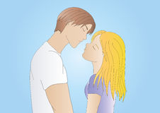 chłopiec dziewczyny miłość Obraz Royalty Free