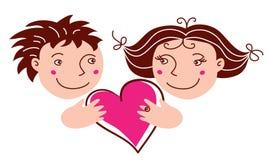 chłopiec dziewczyny miłość royalty ilustracja