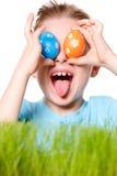 chłopiec Easter śmieszny portret Zdjęcie Royalty Free