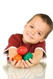 chłopiec Easter jajka szczęśliwi Zdjęcia Royalty Free