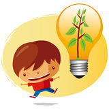 chłopiec ekologiczna Zdjęcie Royalty Free