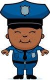 Chłopiec funkcjonariusz policji ilustracja wektor