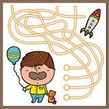 Chłopiec gra ilustracja wektor
