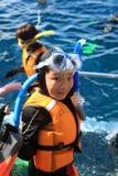 Chińska chłopiec iść nurkować Zdjęcie Royalty Free