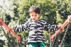 Chłopiec i boiska wyposażenie Obrazy Royalty Free