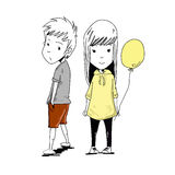 Chłopiec i dziewczyna Zdjęcie Stock