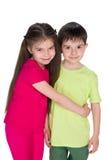 Chłopiec i dziewczyna obrazy royalty free