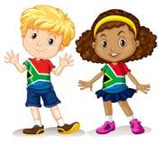 Chłopiec i dziewczyna od Południowa Afryka Fotografia Royalty Free