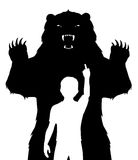 Chłopiec i niedźwiedź Zdjęcie Stock