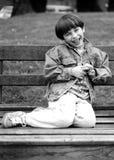 chłopiec ja target2463_0_ zdjęcia stock