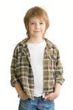 chłopiec ja target427_0_ śliczny Obraz Royalty Free