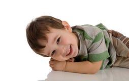 chłopiec ja target799_0_ mały Zdjęcie Stock