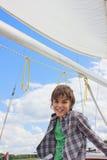 chłopiec jachting obraz royalty free
