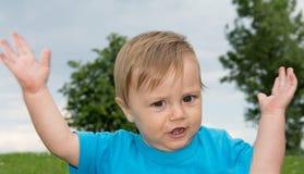 Chłopiec jako polityk zdjęcie stock