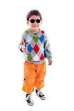 Chłopiec jest ubranym okulary przeciwsłoneczne Fotografia Stock