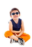 Chłopiec jest ubranym okulary przeciwsłoneczne Fotografia Royalty Free