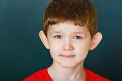 chłopiec kamery mały target1312_0_ Zdjęcia Royalty Free