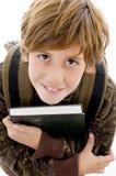 chłopiec kamery przyglądający szkolny ja target1321_0_ Obrazy Stock
