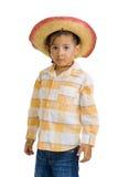 chłopiec kapelusz kowbojski śliczny Obraz Royalty Free