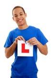 chłopiec kierowcy uczeń Zdjęcia Stock