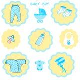 Chłopiec kolekcja, dziecko chłopiec śliczny tło, dziecko prysznic, Obraz Royalty Free