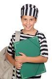 chłopiec kostiumowy więźnia uczeń zdjęcia royalty free