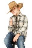 chłopiec kowbojski kapelusz zdjęcie stock