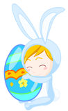 chłopiec królik Obraz Royalty Free