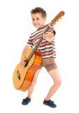 chłopiec kraju gitary małe sztuka Obraz Royalty Free