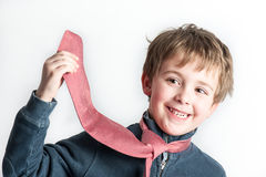 chłopiec krawat mały bawić się Obraz Royalty Free