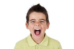 Chłopiec krzyczeć Zdjęcia Stock