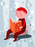 chłopiec książkowy czytanie royalty ilustracja