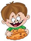 chłopiec kulebiak Fotografia Royalty Free