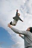 chłopiec latanie Fotografia Stock