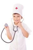 chłopiec lekarki bawić się Obraz Royalty Free