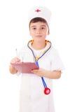 chłopiec lekarki bawić się Obrazy Royalty Free