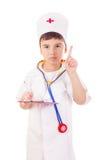 chłopiec lekarki bawić się Zdjęcie Stock