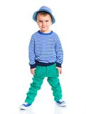 chłopiec mały modny Zdjęcia Royalty Free