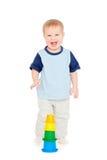 chłopiec mały radosny Obrazy Stock