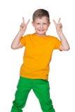 chłopiec mały radosny Zdjęcie Royalty Free