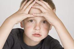 chłopiec mały sfrustowany Zdjęcie Royalty Free