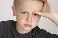 chłopiec mały sfrustowany Zdjęcie Stock