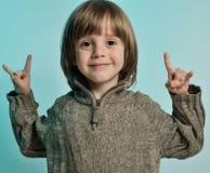 chłopiec mały szczęśliwy Obrazy Royalty Free