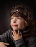 Chłopiec marzy szkła Zdjęcia Royalty Free