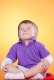 chłopiec medytacja szczęśliwa mała Zdjęcie Stock